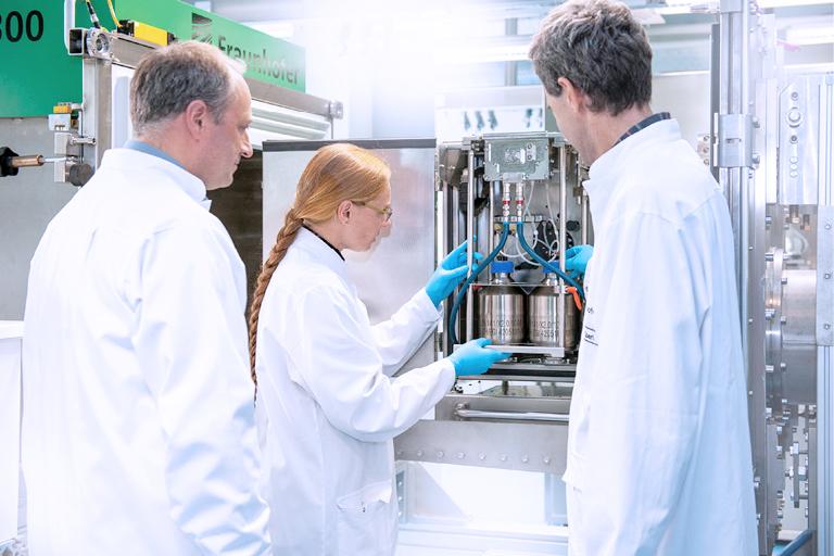 """The research prototype: """"ELLI 300"""", Liquid roll-system, Fraunhofer IZIFraunhofer IZI"""